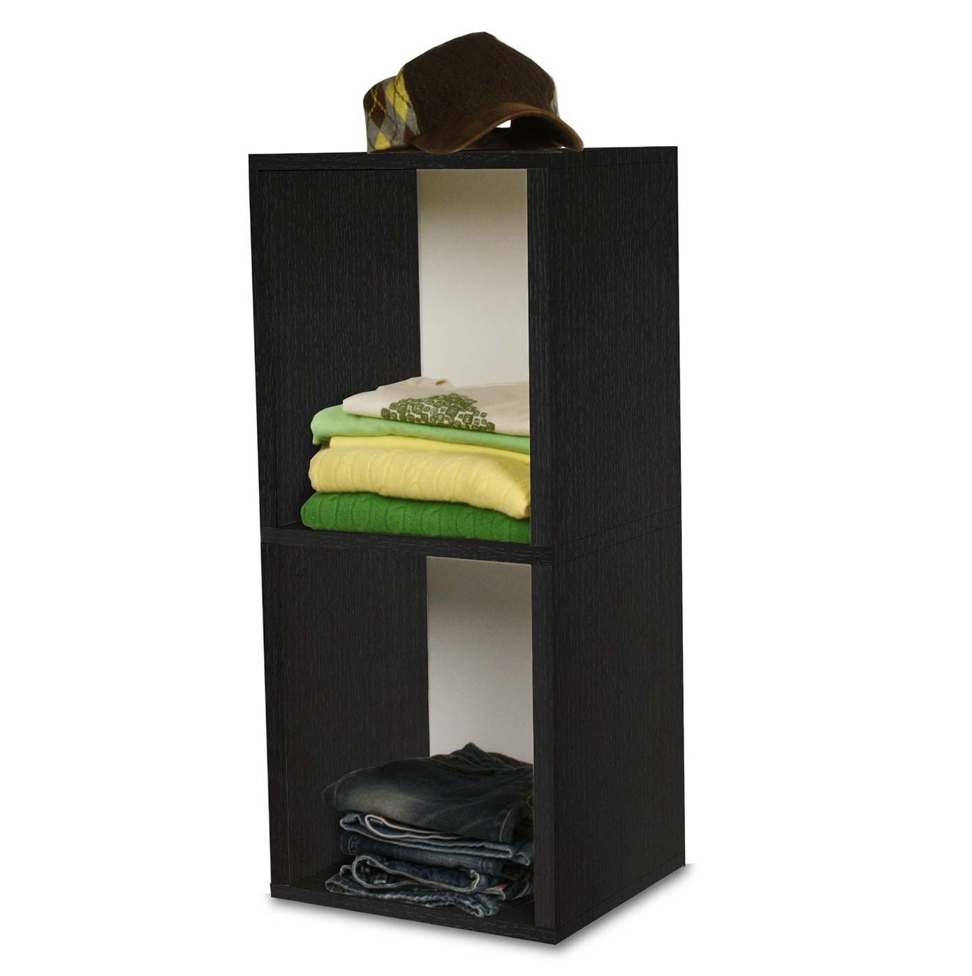 Permalink to 2 Shelf Bookcase Black