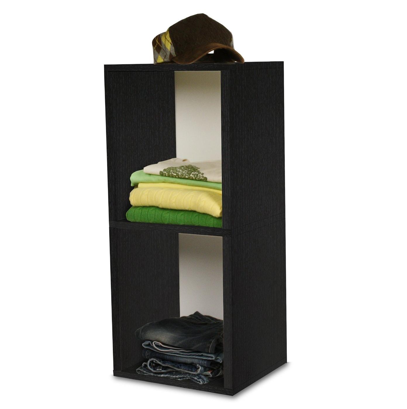 2 Shelf Bookcase Black