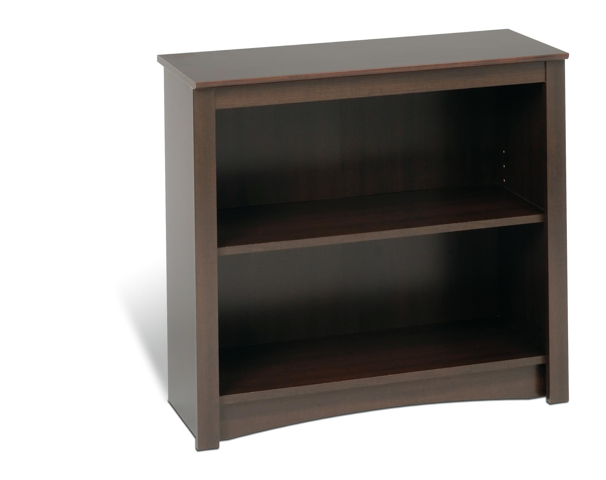 2 Shelf Bookcase Espresso