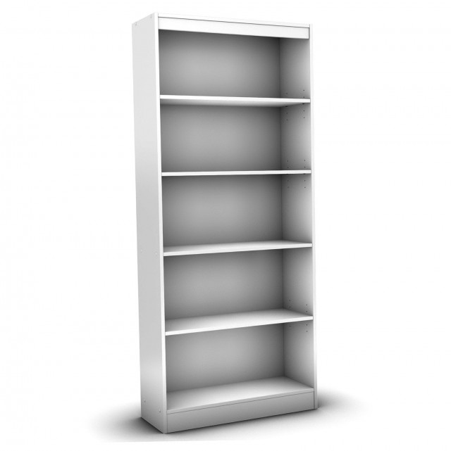 5 Shelf Bookcase White