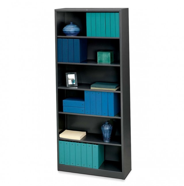 6 Shelf Bookcase Black