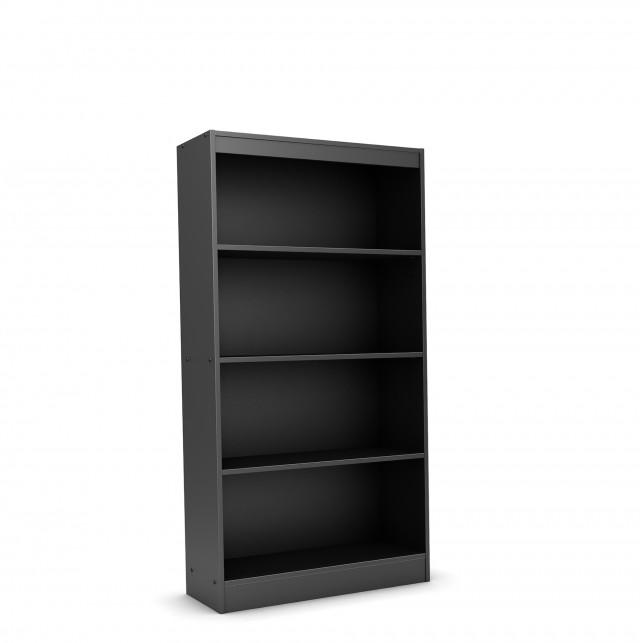 Black 4 Shelf Bookcase