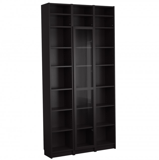 Black Bookshelf With Doors