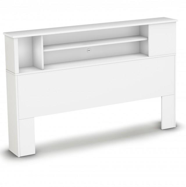 Bookcase Headboard Queen White