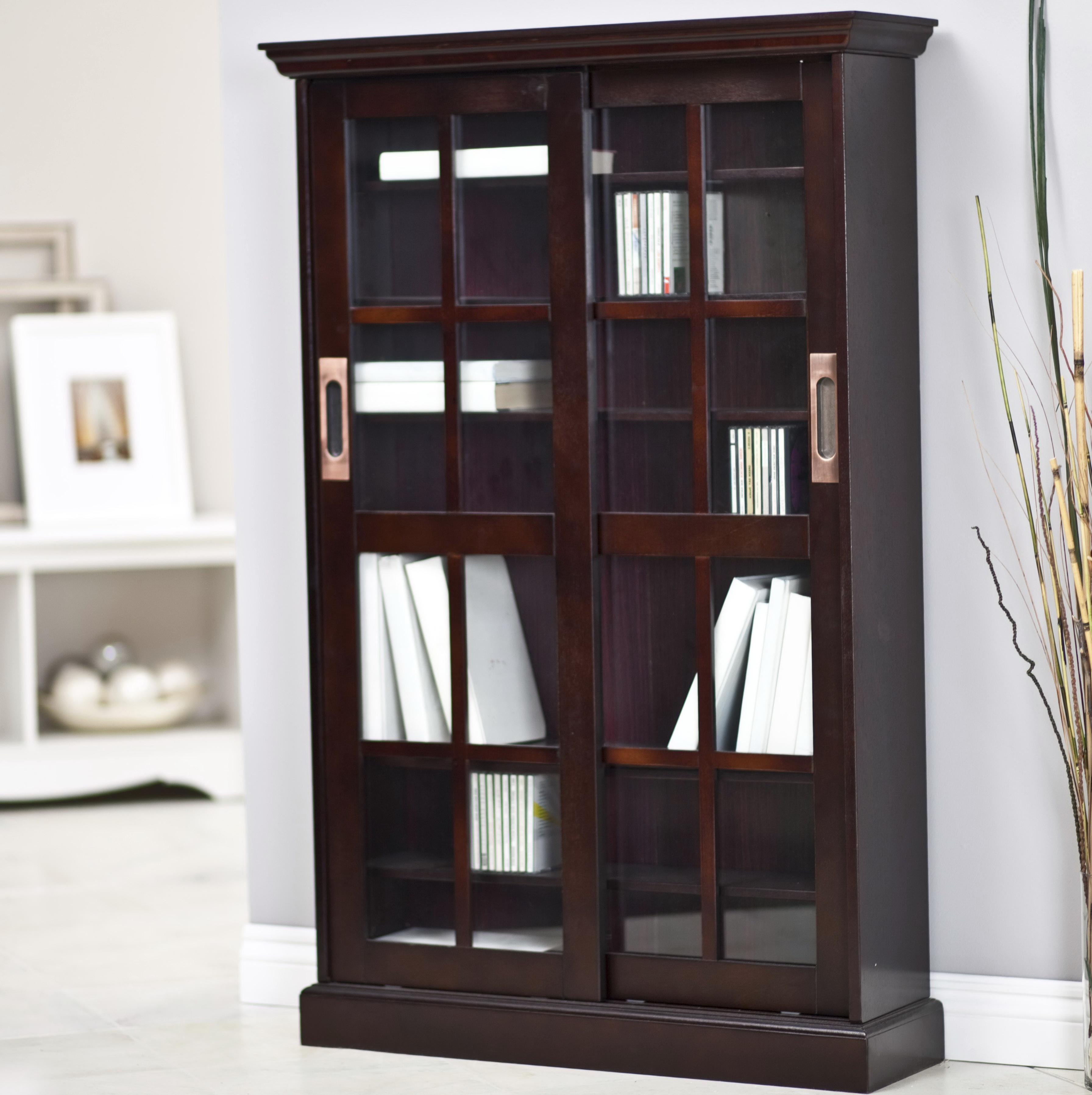 Bookcase With Doors Espresso