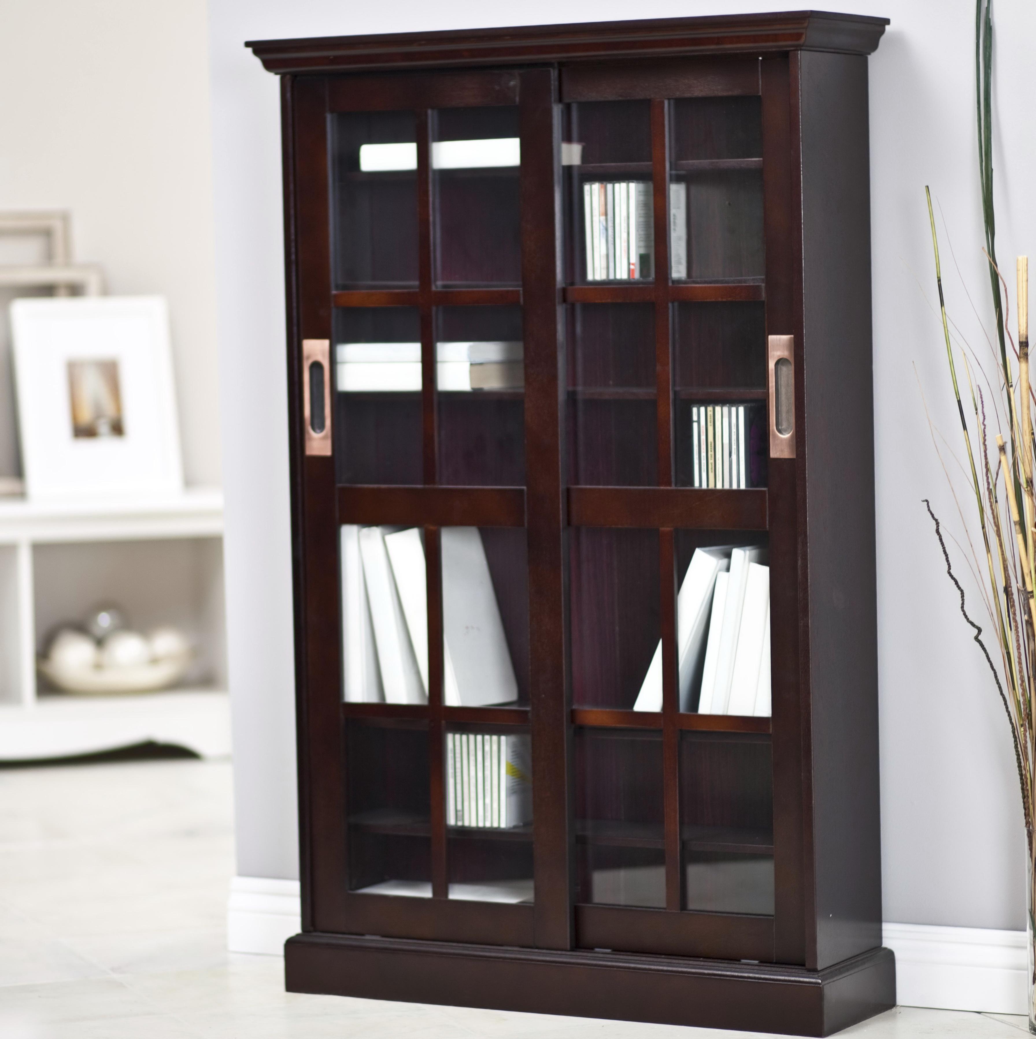 Bookcase With Doors Espresso
