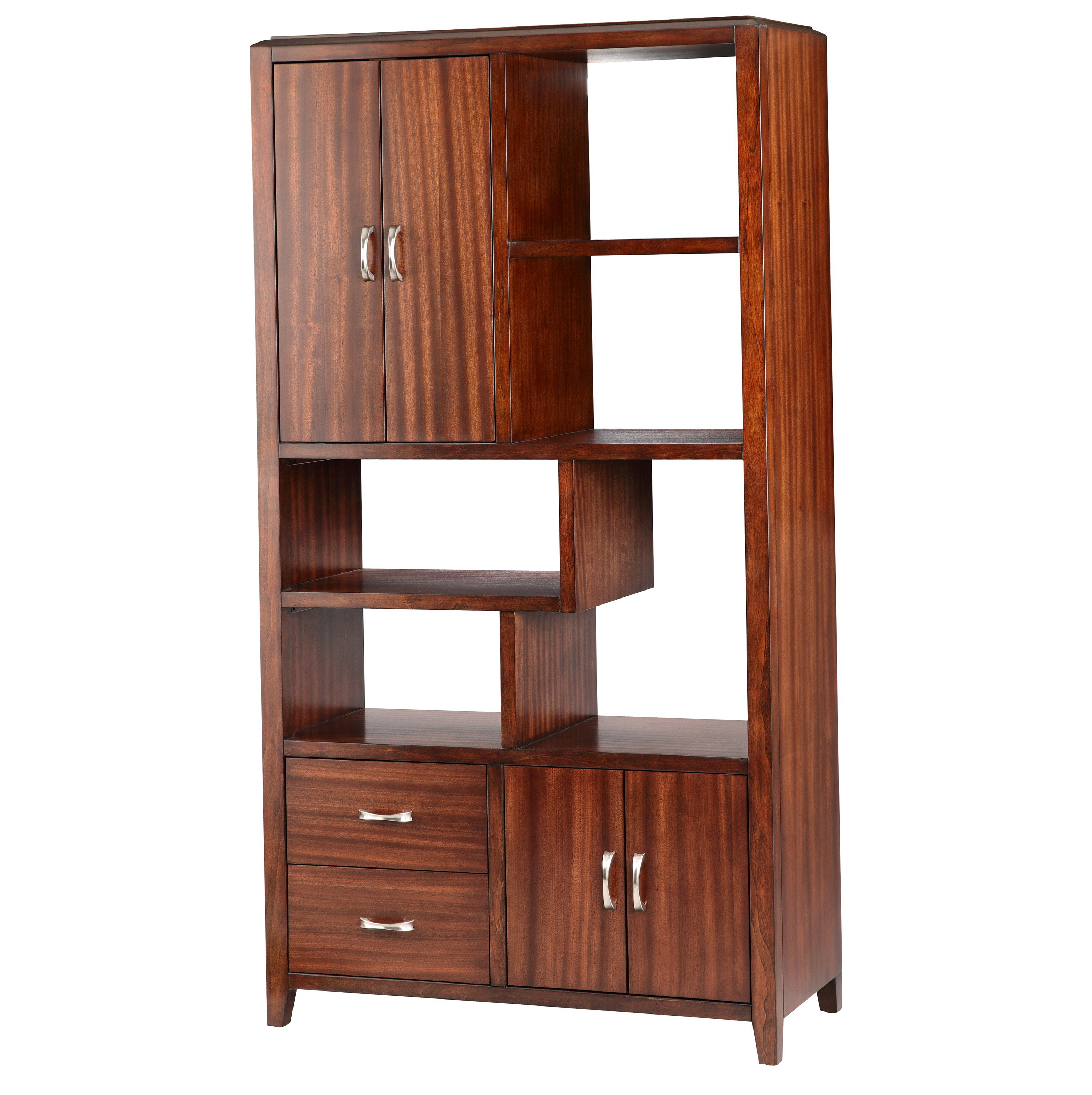 Bookcase With Drawers And Doors