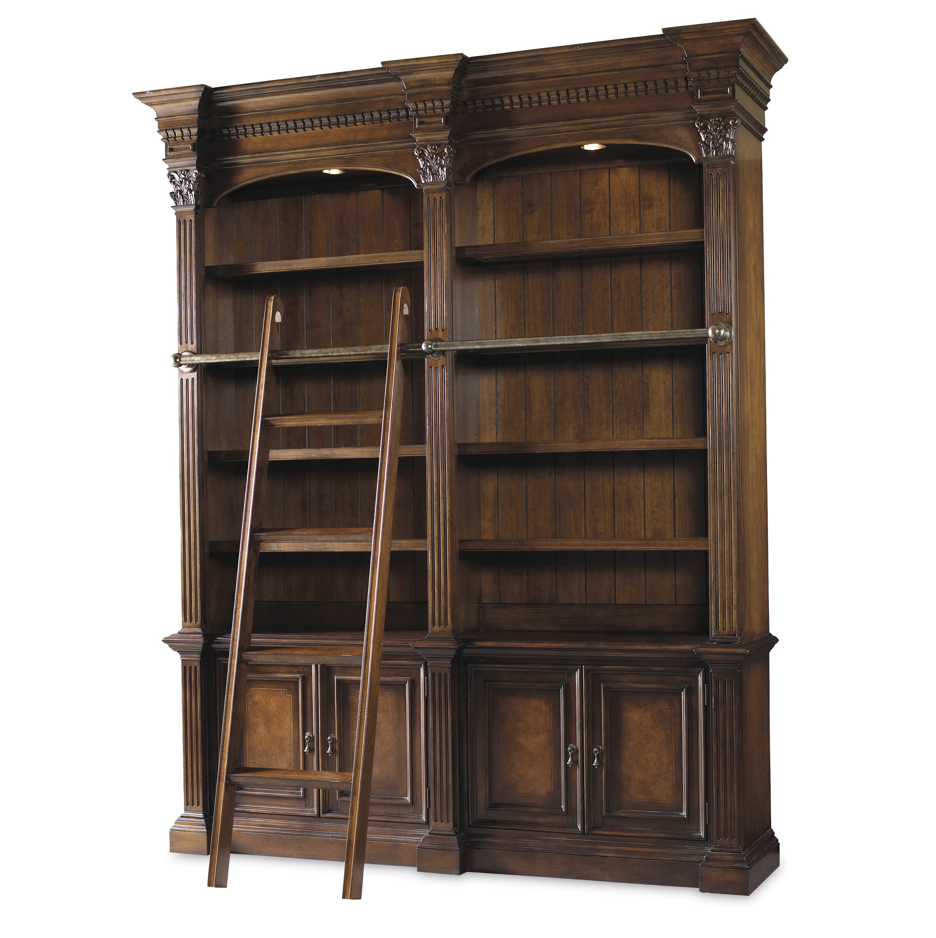 Bookcase With Ladder And Rail