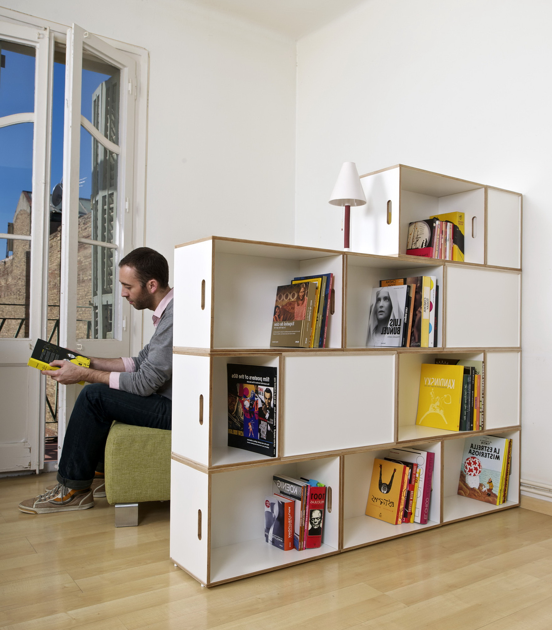 Permalink to Bookshelf Room Divider Apartment Therapy