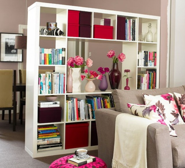 Bookshelf Room Divider With Door