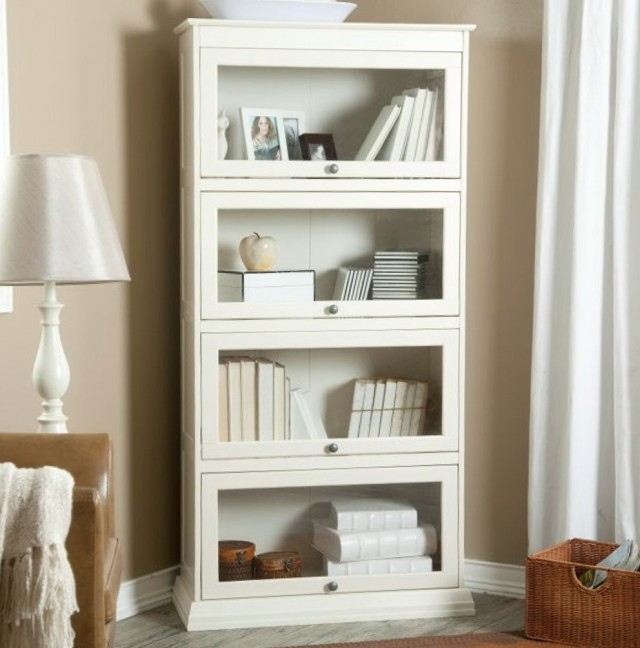 Bookshelf With Drawers White