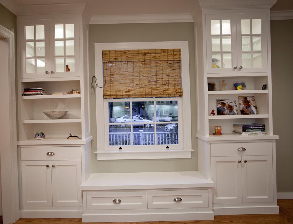 Built In Bookcases Around Window Home Design Ideas