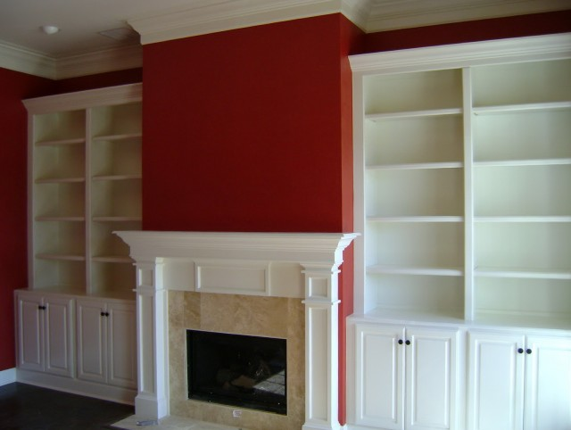Built In Bookcases Fireplace
