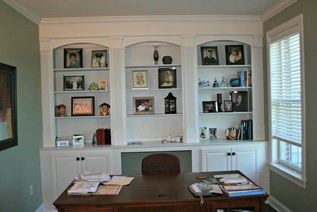 Built In Bookcases With Desk
