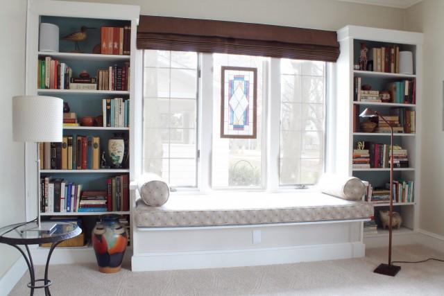 Built In Bookshelves Window