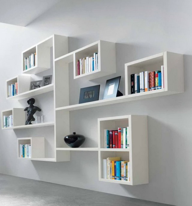 wall mounted bookcase shelves home design ideas