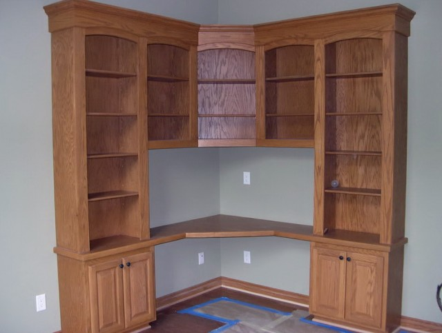Corner Desk With Bookcase