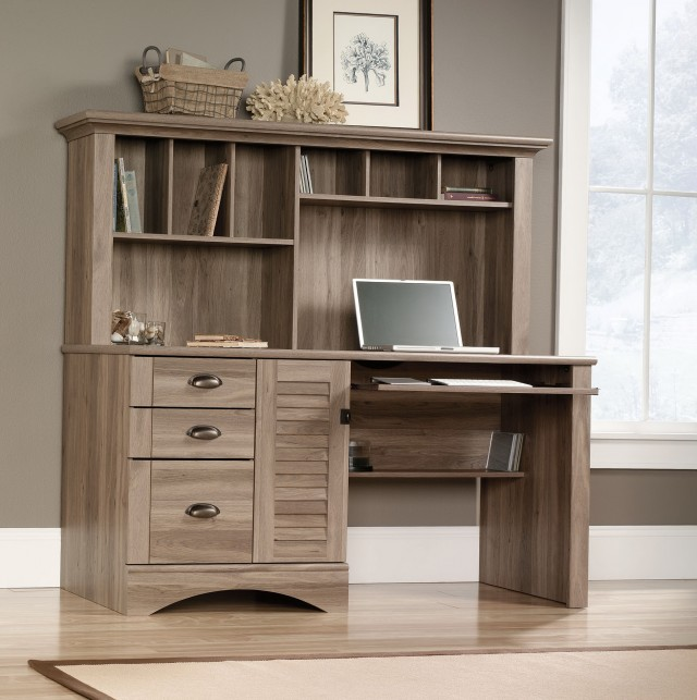 Desk With Bookshelf Attached Desk Design Ideas