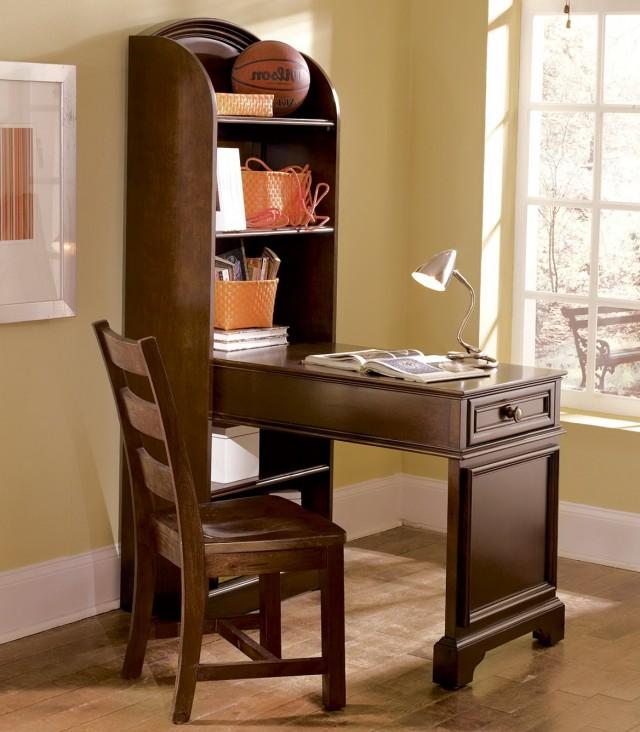 Desk With Bookshelf On Side