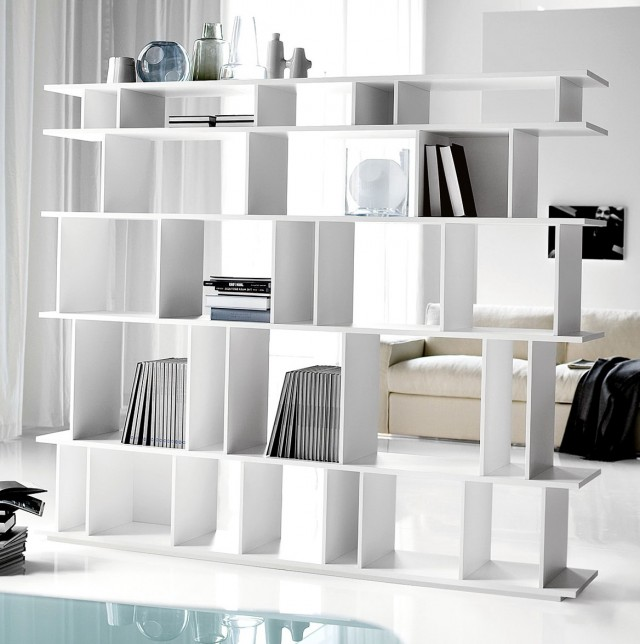 Double Sided Bookshelf Room Divider