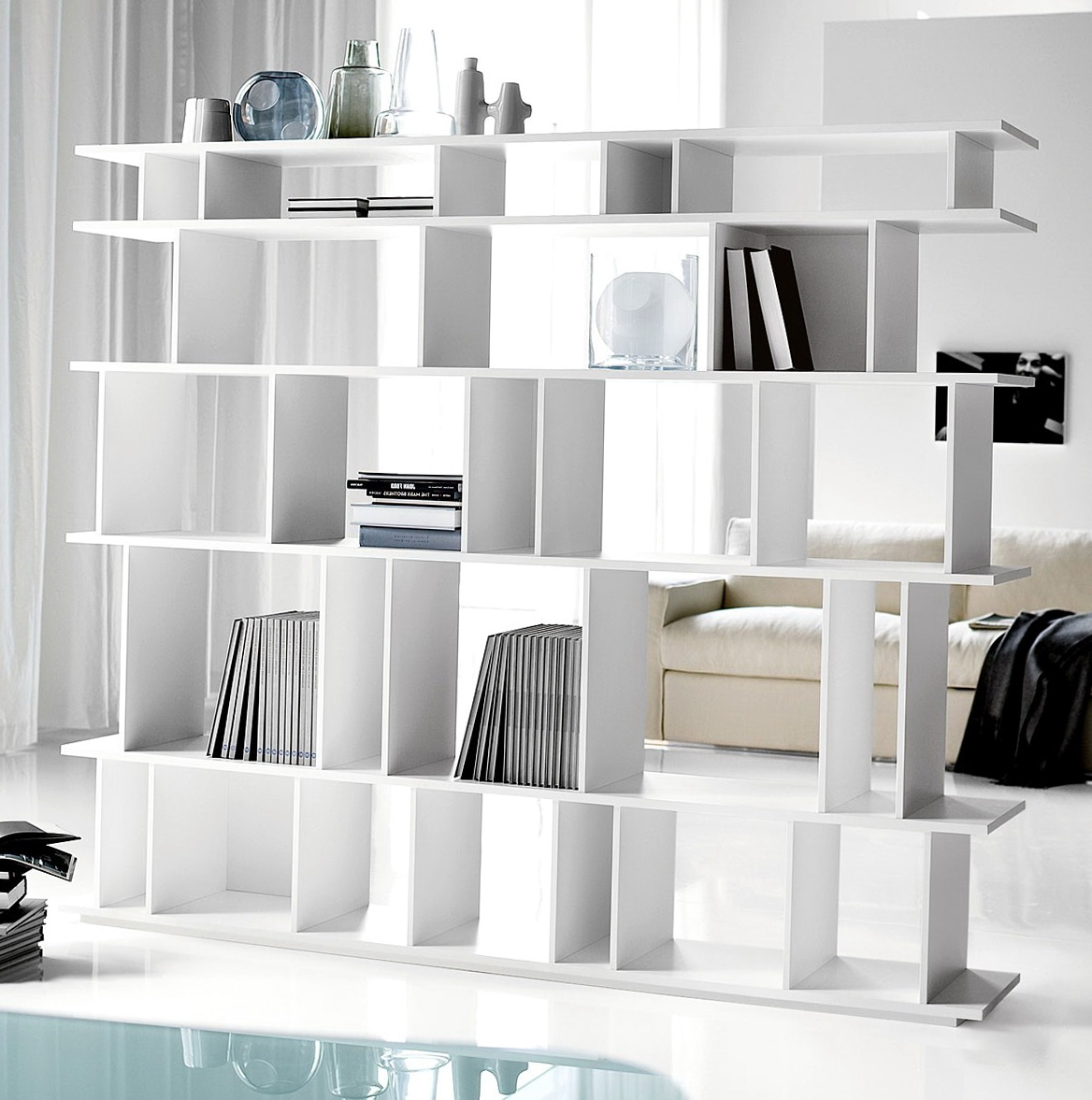 Permalink to Double Sided Bookshelf Room Divider