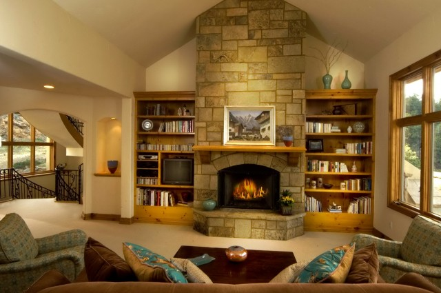 Family Room Bookshelf Decorating Ideas