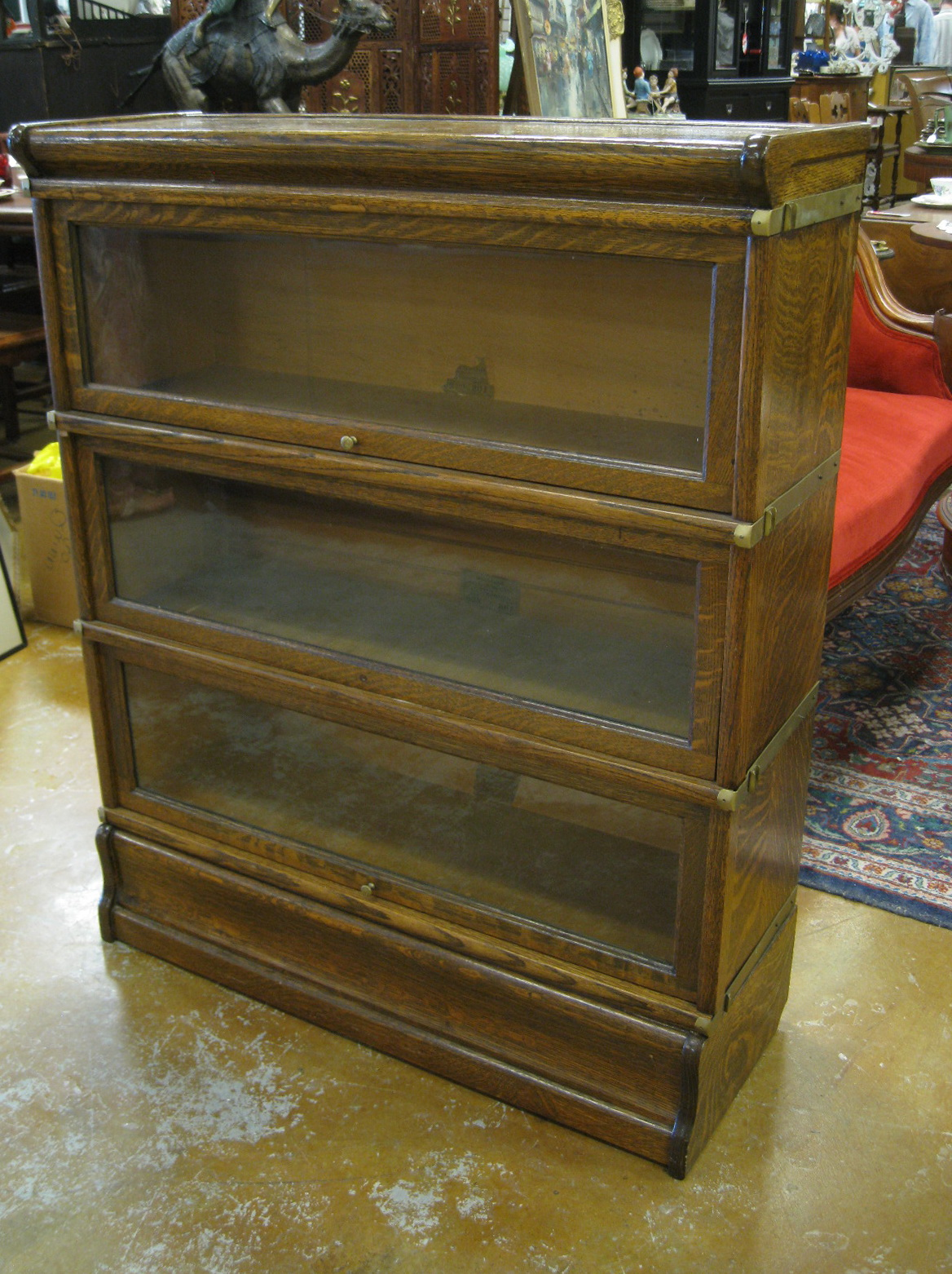 Glass Door Bookcase Antique