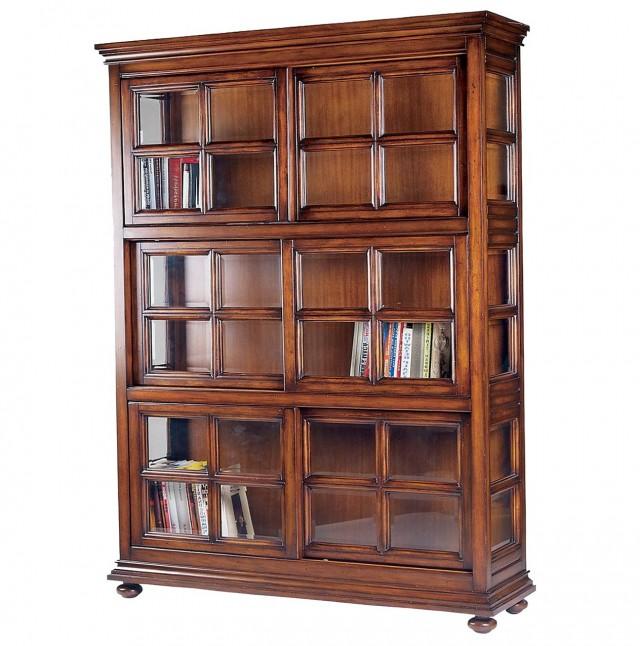 Glass Door Bookcase For Sale