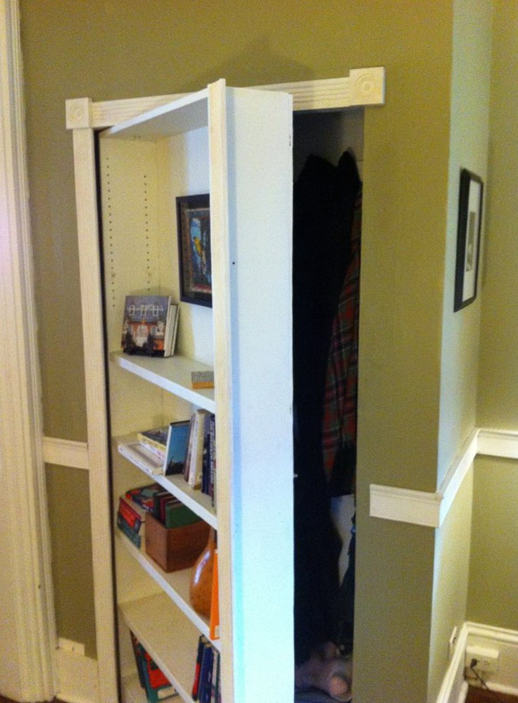 Hidden Bookcase Door Latch