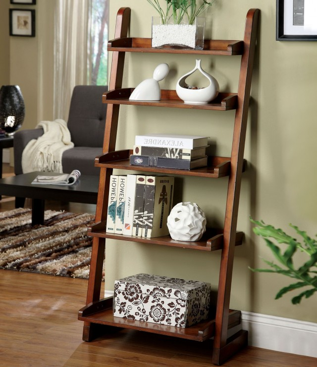 Ladder Bookshelf Decorating Ideas