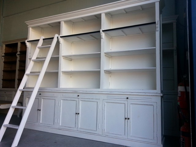 Large Bookcase With Ladder