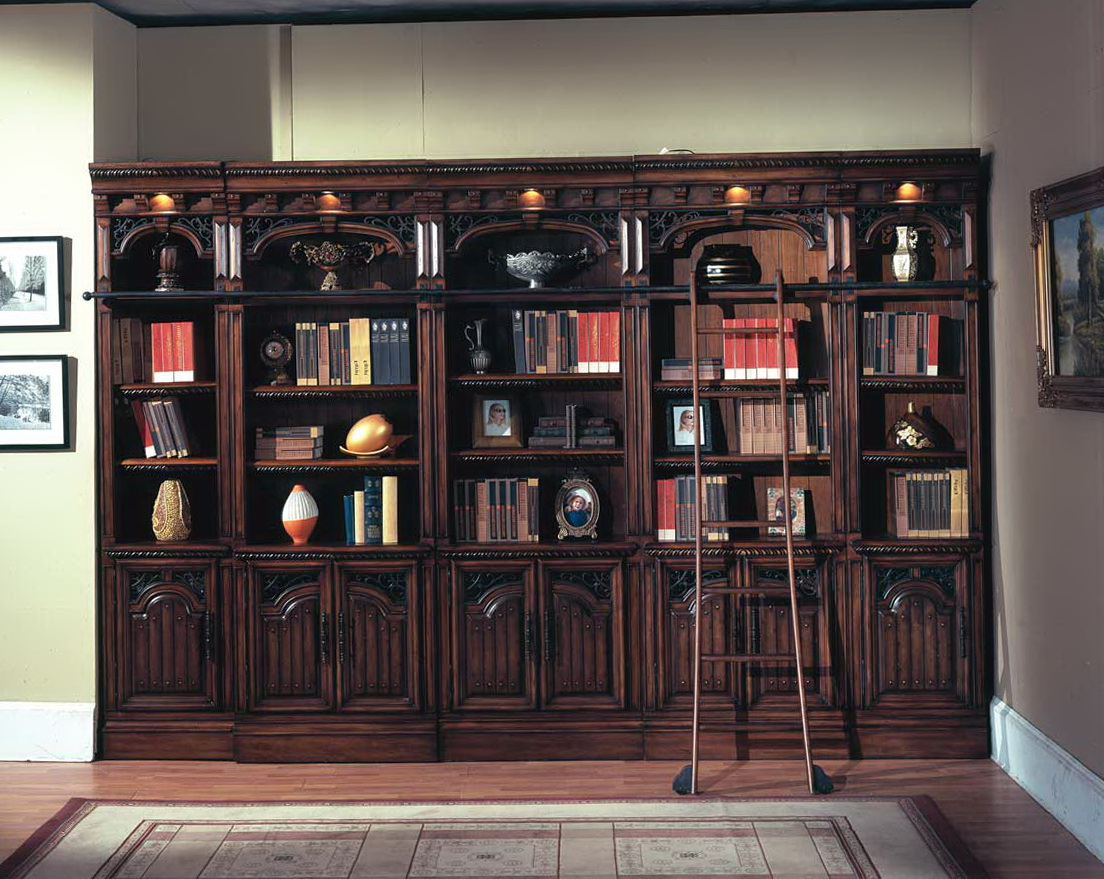 Library Style Bookcase With Ladder