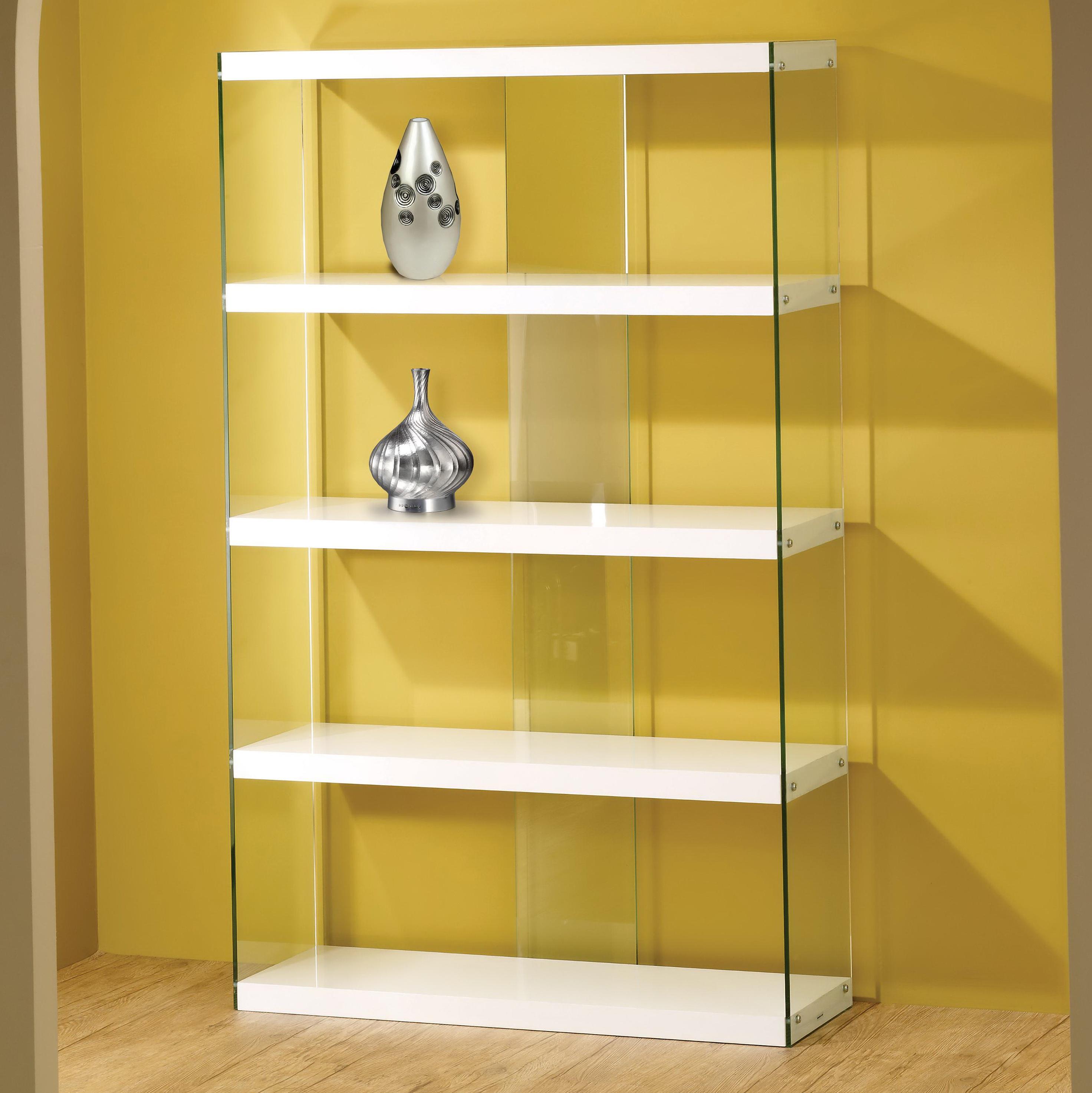 Modern Glass Door Bookcase