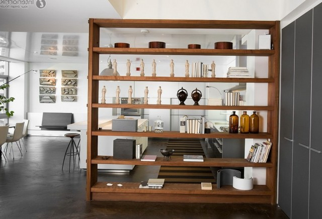 Open Bookshelf Room Divider