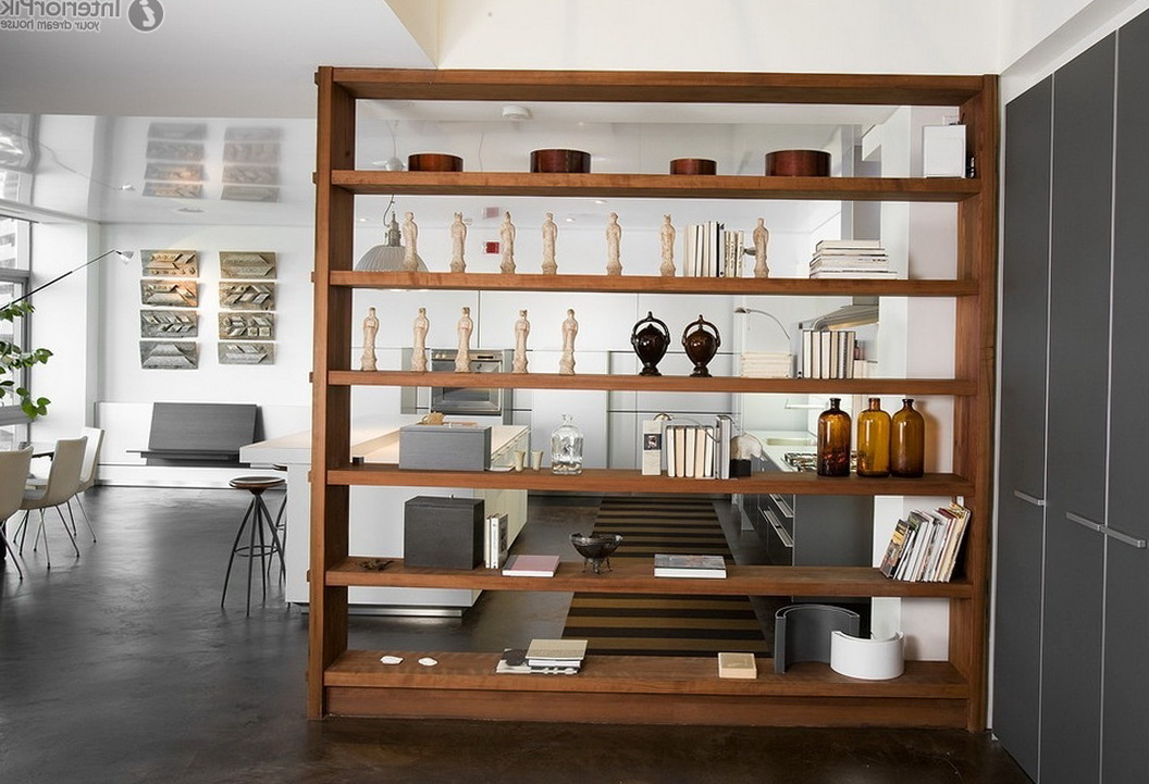 Open Bookshelf Room Divider