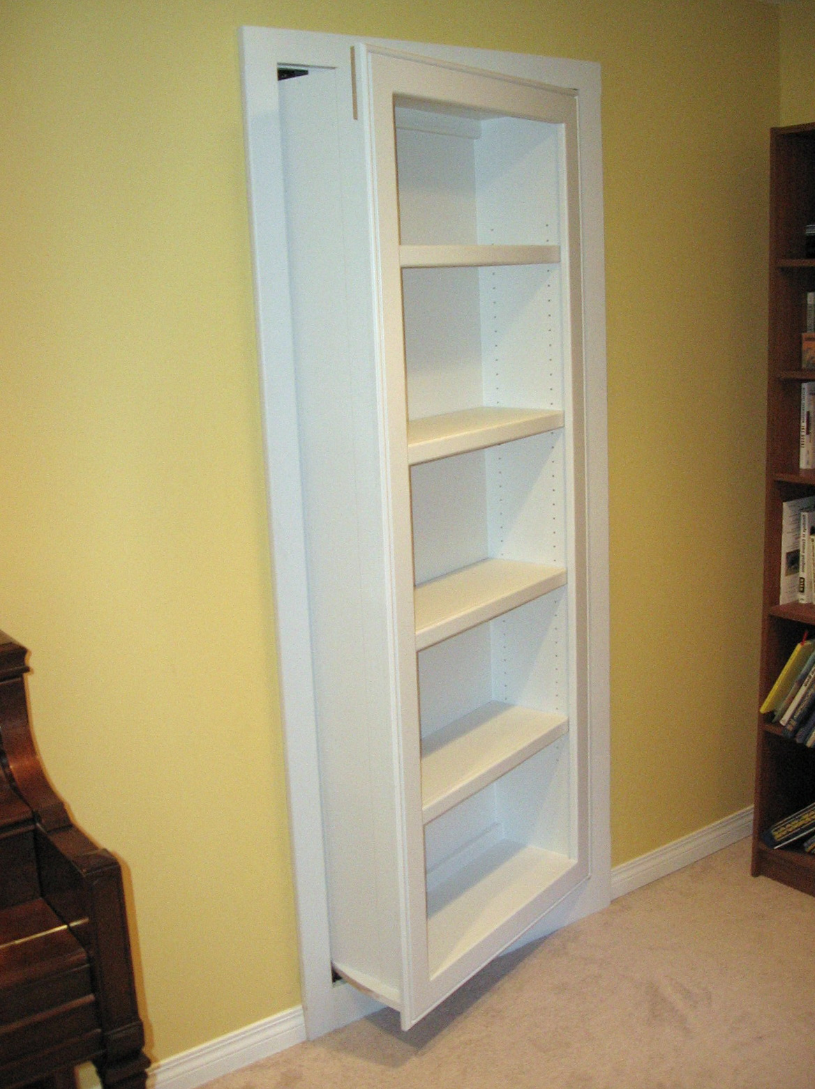 Secret Bookcase Door Latch Mechanism Home Design Ideas