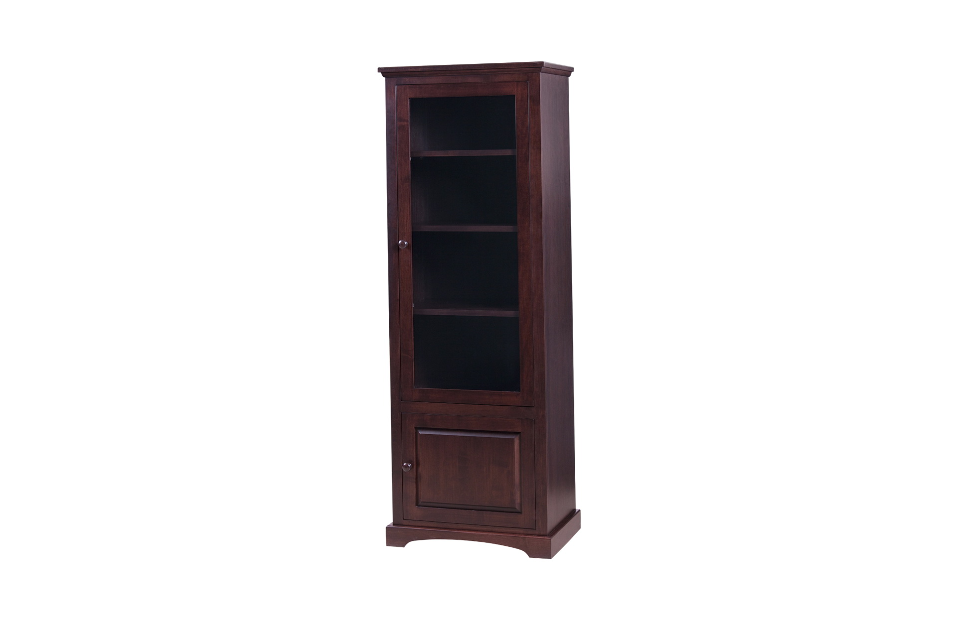 Small Bookcases With Glass Doors