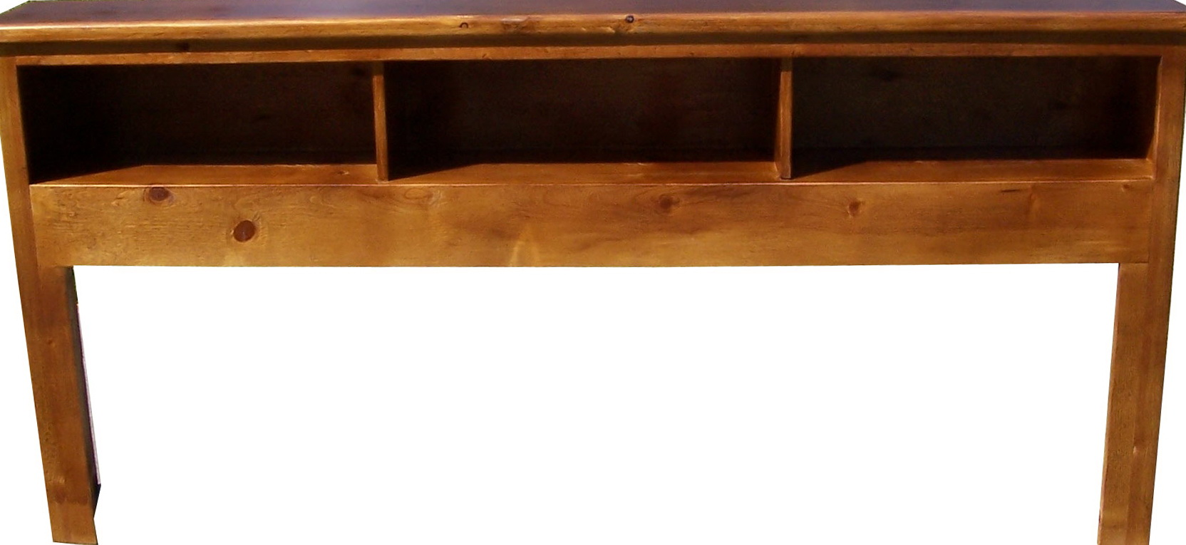 Permalink to Solid Wood Bookcase Headboard