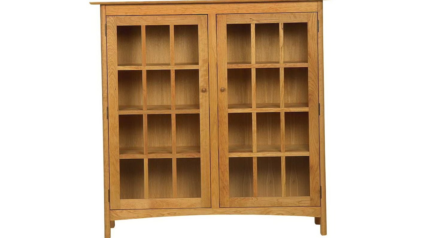 Solid Wood Bookcases With Doors