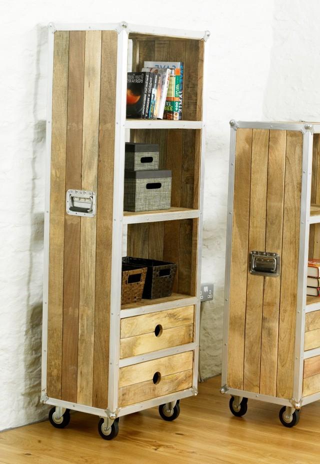 Tall Bookshelf With Drawers
