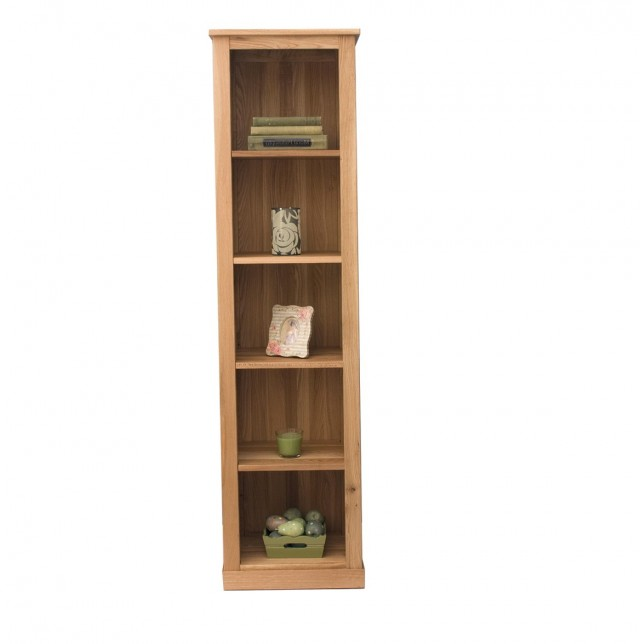 Tall Narrow Bookcase Oak