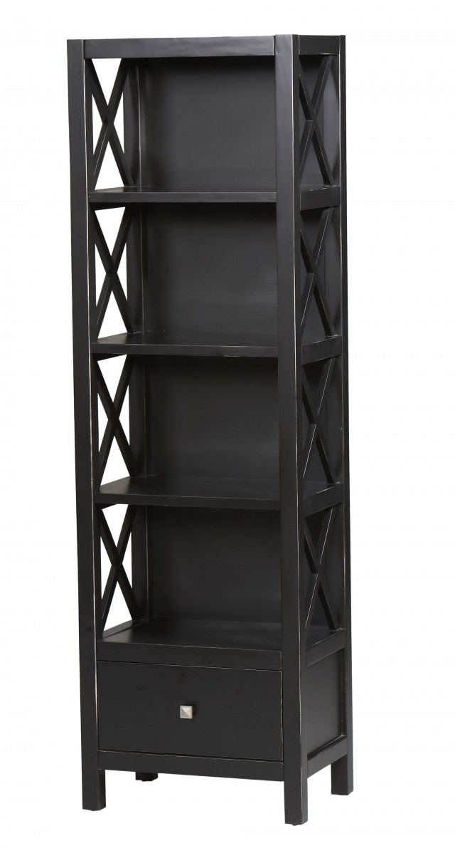 Tall Narrow Bookcase With Drawers
