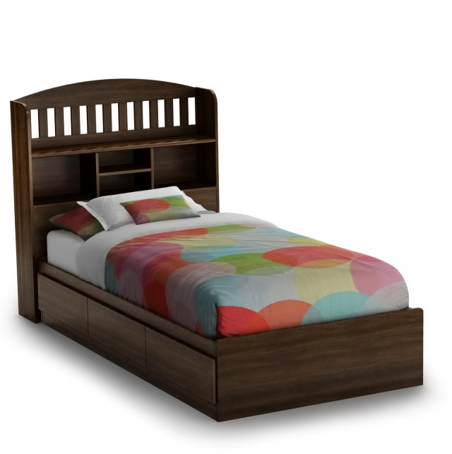 Twin Bookcase Headboard Bed