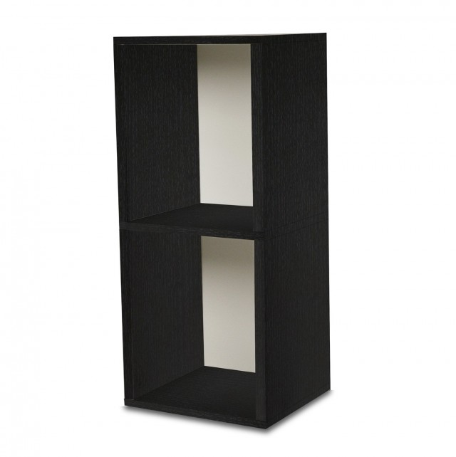 Two Shelf Bookcase Black