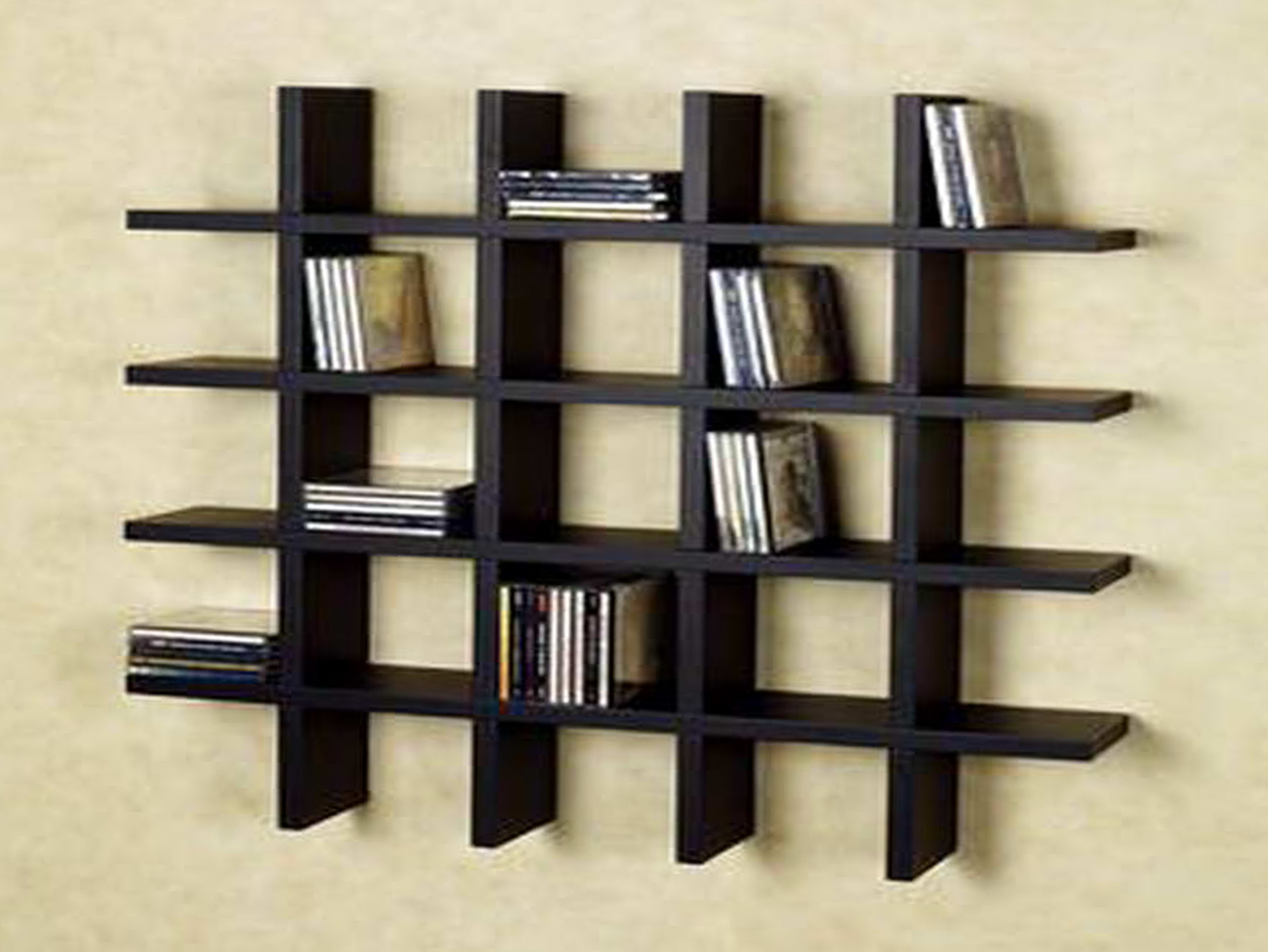 Wall Mounted Bookshelves Designs