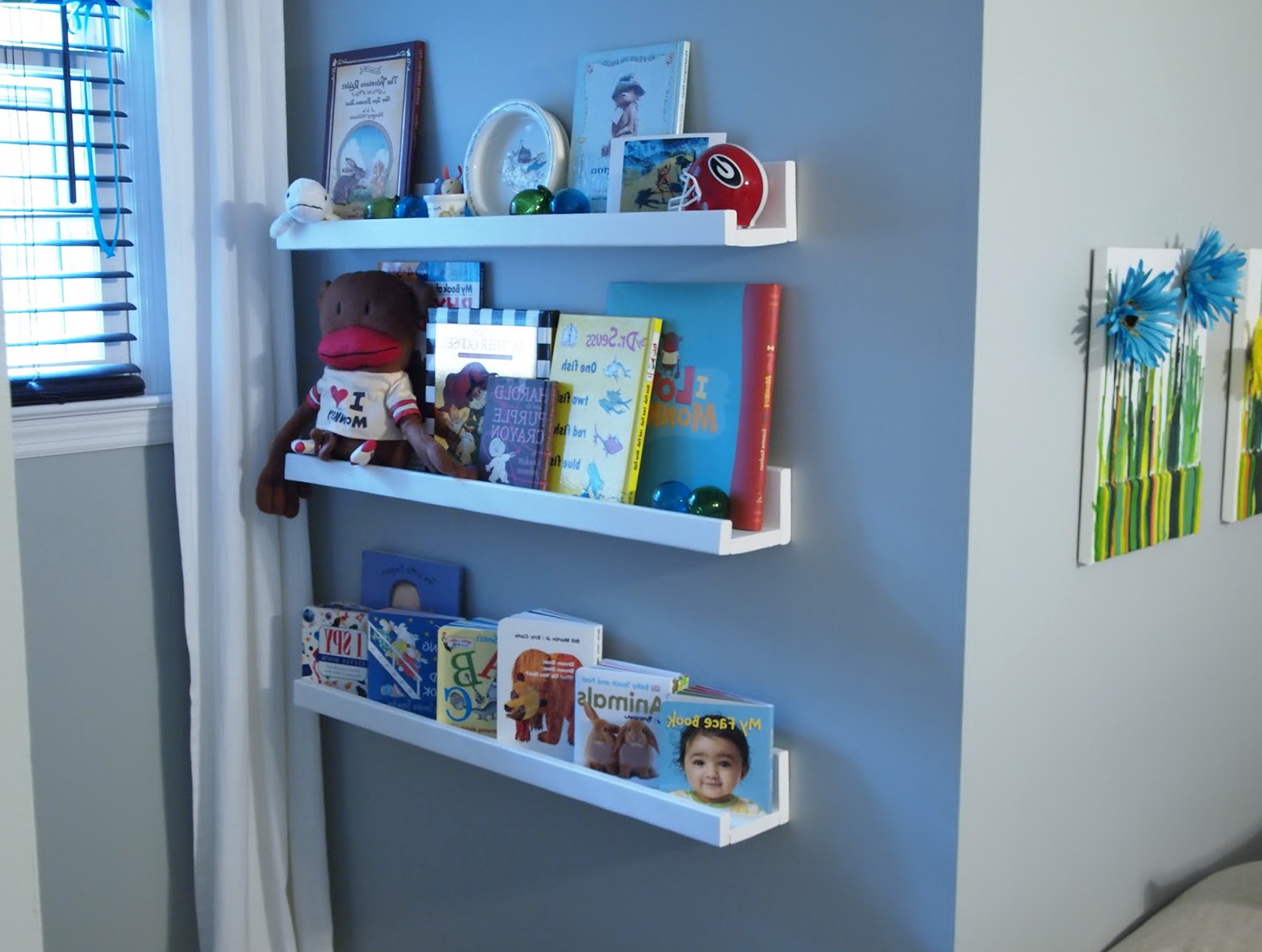 Wall Hanging Bookshelves wall mounted bookshelves nursery | home design ideas