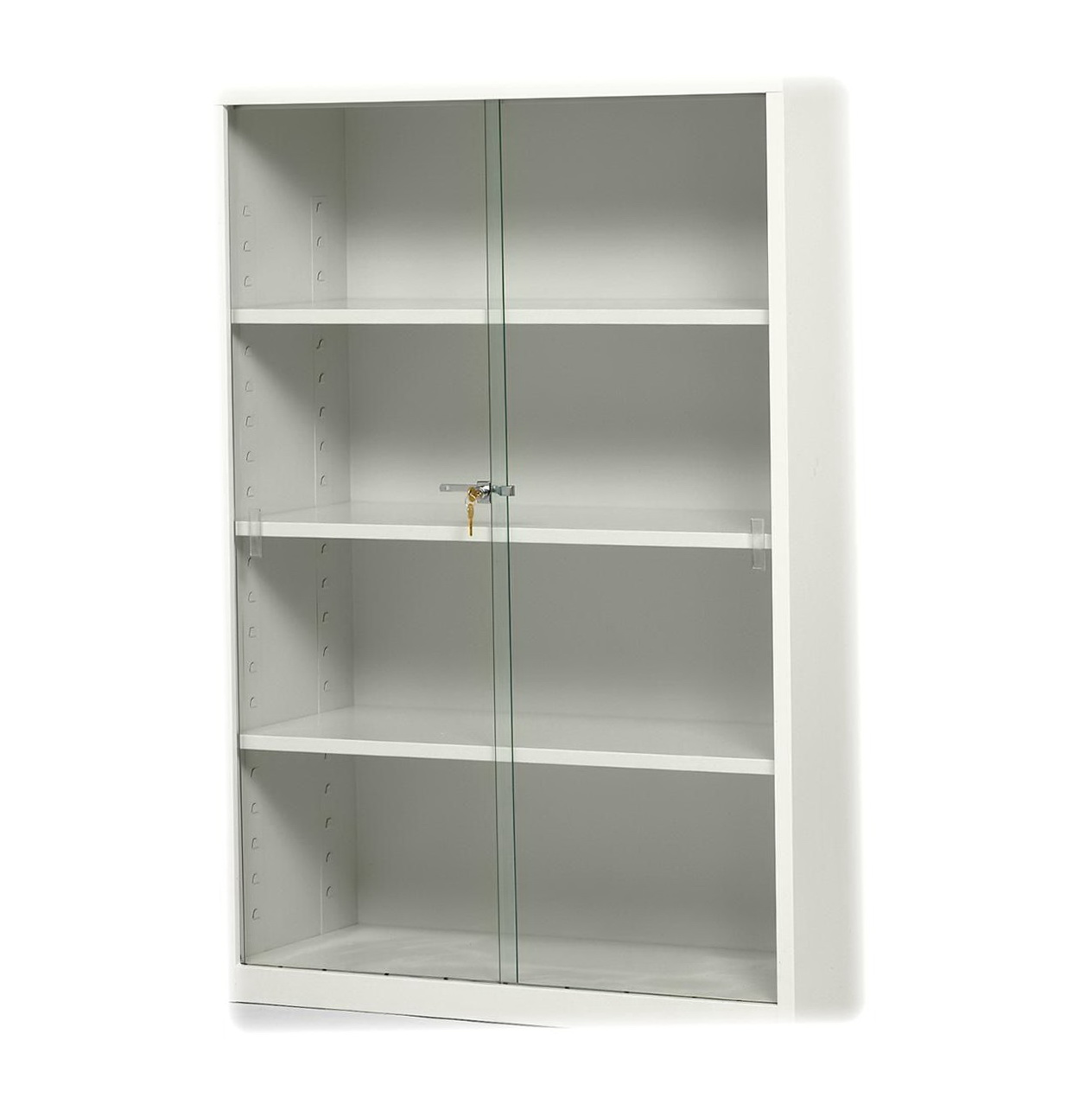 White Bookcases With Glass Doors