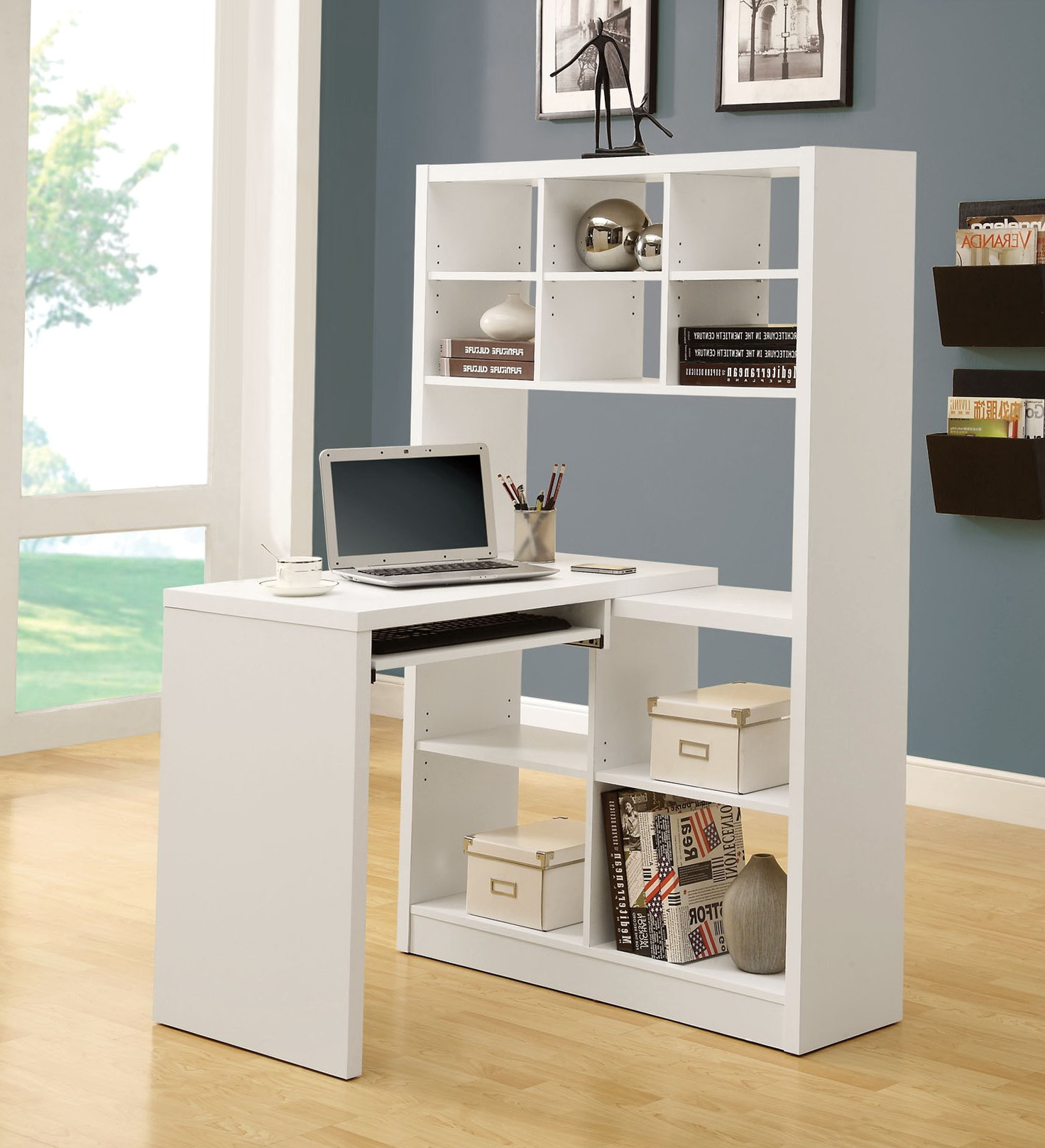 Permalink to White Desk With Bookshelf
