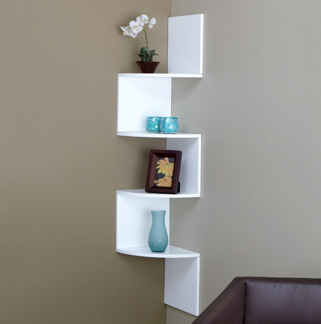 White Wall Mount Bookshelf