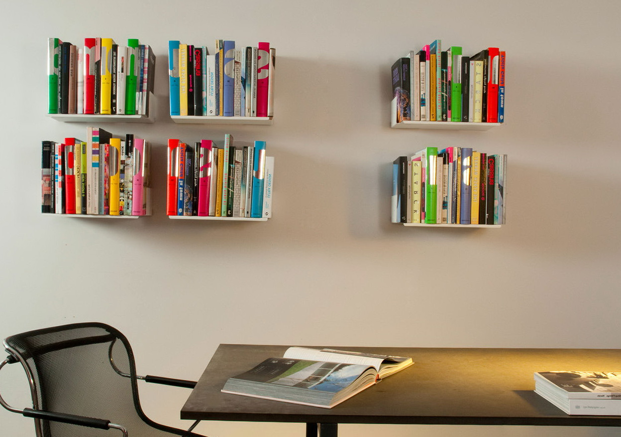 Permalink to White Wall Mounted Bookshelves